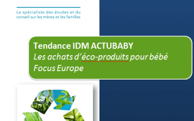 Les achats d'éco-produits pour bébé Focus Europe